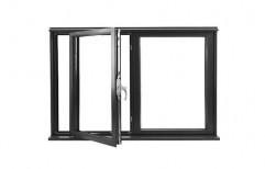 White Aluminium Black Aluminum Casement Window