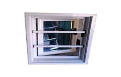 White Aluminum Z Openable Window