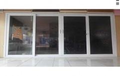 Windware White Glass UPVC Sliding Windows, Thickness Of Glass: 5-8 Mm