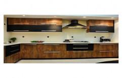 Wooden Brown Modular Kitchens