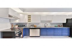 Wooden L Shape Acrylic Modular Kitchen, Kitchen Cabinets