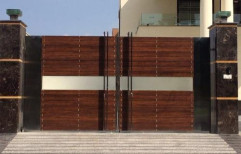 Wooden Type Brown HPL Sheet Cladding Service, Thickness: 6 Mm