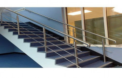 2.5 Feet Stairs Stainless Steel Staircase, For Home, Material Grade: 304
