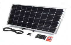 Black And White Solar Powered Battery Charger, 16 To 20 Volts