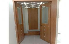 Brown Interior Rectangular Wooden Door