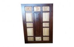 Brown Wooden Door, Size/Dimension: 7*3 Feet