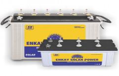 C-10 Tumbler Tubular Enkay Solar Power Battery, 12, Capacity: 162 Ah