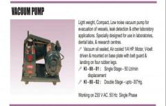 Diaphragm Vacuum Pumps Vaccum Pump, Automation Grade: Semi-Automatic, Model Name/Number: Ki-88-01 Ki-88-02