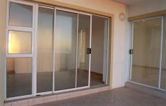 Domal White Aluminium Sliding Door, For Home