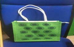 Green Jute Hand Bag Jute Bags, Size: 12x12x4, Capacity: 5 Kg