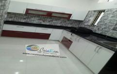 HDHMR L Shape Modular Kitchen, Warranty: 5-10 Years, Kitchen Cabinets