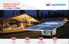 JAKSON Off Grid MOBILE SOLAR GENERATOR, For Commercial, Capacity: 2 Kw