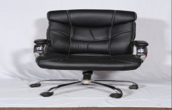 Leather Revolving chairs, Black