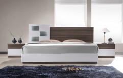 Modern White Wooden Bed