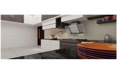 Multi Wood Modern Modular Kitchen, Drawer Slide