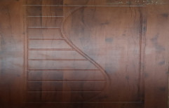 "Natural teak Hinged S Pattern Membrane Door, Single, Size/Dimension: 81"" X 32"""