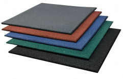 Plain Colored Rubber Floor Tiles, Thickness: 5-10 mm