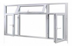 Plain UPVC Residential Casement Window, Thickness Of Glass: 5 - 8 mm