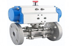 RANK Stainless Steel Automated Ball Valves, For Industrial, Size: 25mm To 300mm