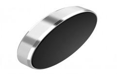 Round Aluminium Silver Magnetic Car Phone Holder