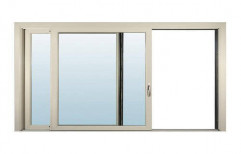 Saifee Steel Silver Aluminum Window, For Home, Size/Dimension: 5x4 Feet