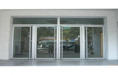 Saint Gobain Hinged Aluminium Thick Glass Door, For Office,Home & Hotel, Thickness: 5 Mm