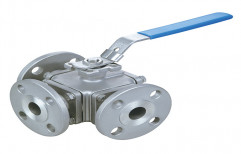 Stainless Steel, Brass Flanged End 3 Way Ball Valves, New, Size: 15mm To 100mm