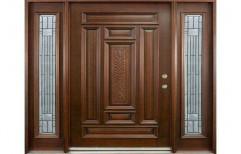 Standard Brown Wooden Entrance Door, Size/Dimension: 7-8 Feet ( Height )
