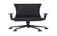 UNIMAPLE Stance Series Ergonomic Office Chair with Cushion Seat (Black, Medium Back)
