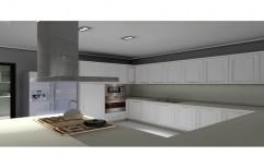Wooden Italian Modular Kitchen, Kitchen Cabinets