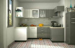 Wooden U Shape Kitchen Designing Services, Warranty: 1-5 Years