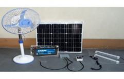 Arkavani LED Solar DC Power System with 100 Watt Solar Panel
