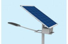 Chrome Solar Panel Street Light
