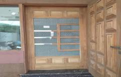 Interior Teak Wood Door, Size: 81@39