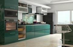 Italian Straight Modular Kitchen, Work Provided: Wood Work & Furniture