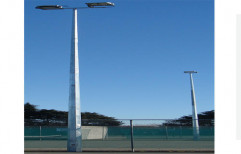 Mild Steel Dual-Arm Street Light Pole, For Road Junction,Town Centers