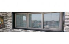 Modern Gray Domal 3 Track Window