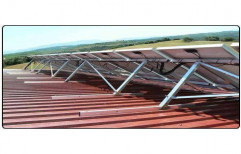 Modular Galvanized Iron Solar Mounting Structure, Bearable Wind Speed: 160 Kmph, Thickness: 2-3mm