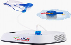 Piston Compressor Nebulizer With Adjustable Fumes Control For Child & Adult (White) (Made In India)