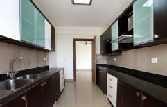 Plywood Granite Parallel Modular Kitchen, 1 Year
