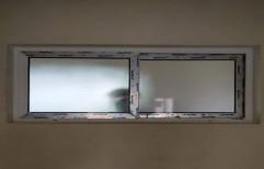 Rectangular White UPVC Bathroom Window for Residential, Thickness: 4-6 mm