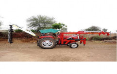 Semi-Automatic Tractor Mounted Rig, Capacity: 0-50 Feet