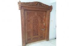 Sewak Enterprises Polished Wooden Single Main Door for Home