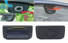 Solar Car Auto Cooler Ventilation Fan Automobile Air Vent Exhaust Heat Fan with Rubber Strip Black