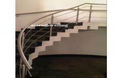Stainless Steel Staircase, Material Grade: Ss306