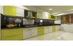 Straight Wooden Modular Kitchen, Warranty: 1 Year