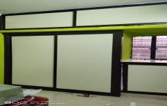White & Brown Wardrobe Wooden Door