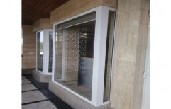 White Residential UPVC French Window, Glass Thickness: 10 Mm