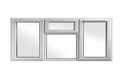 White UPVC Fixed Casement Window for Home, Thickness Of Glass: 4 to 36 mm