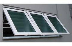 White UPVC Top Hung Windows, Glass Thickness: 5mm